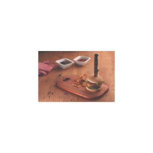 TÁBua Para HambÚRguer Tramontina Provence Em Mogno Africano 34x23 Cm 13346641