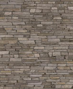 Papel De Parede Non-Woven Durável Estampa Pedras