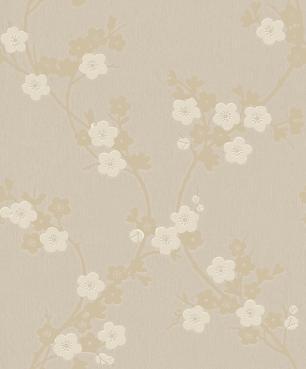 Papel De Parede Vinilico Desenho Flores Durável Sala
