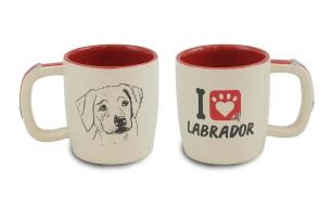 Caneca 350ml Cerâmica Esmaltada Pets Resistente Cachorros