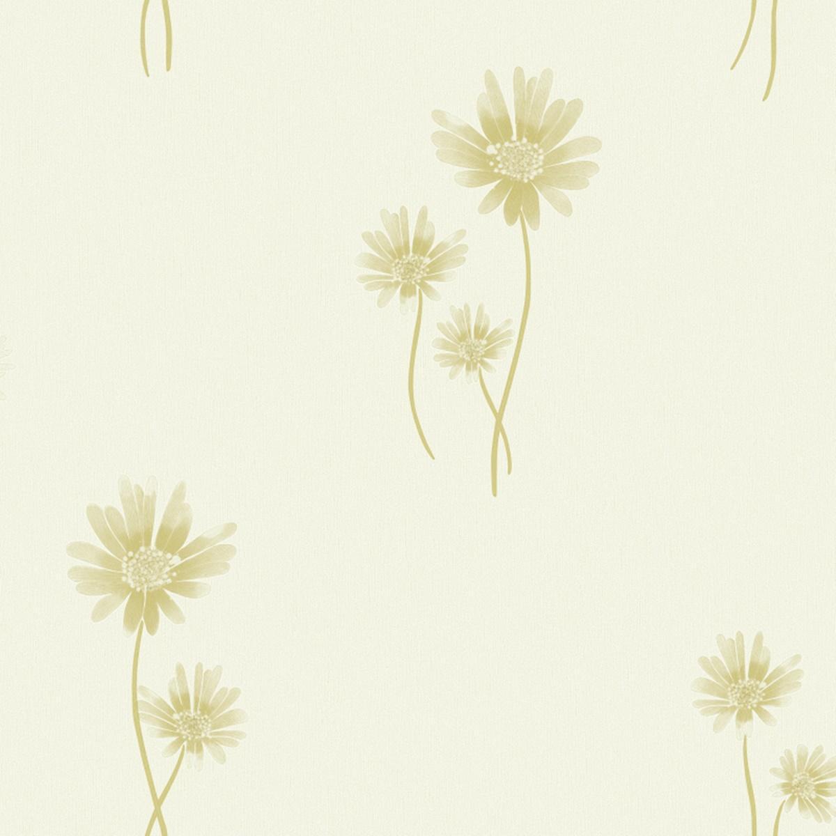 Papel De Parede Vinilico Flores Durável Estampado