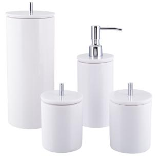 Conjunto de Potes para Banheiro - Redondo - Branco