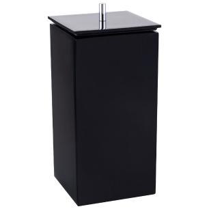 Porta Escova e Creme Dental para Banheiro - Quadrado - Preto