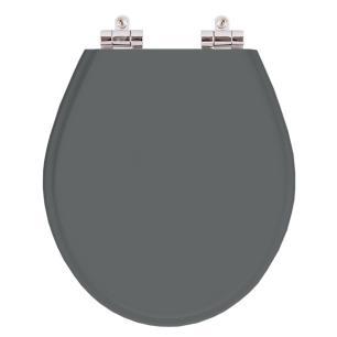 Assento Sanitario Poliester com Amortecedor Carina Cinza Quartzo para Vaso Ideal Standard