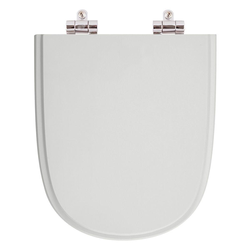 Assento Sanitario Poliester com Amortecedor Ezedra Silver (Cinza Claro) para Vaso Ideal Standard
