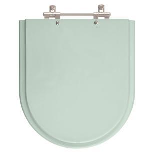 Assento Sanitario Poliester com Amortecedor Riviera Agua Marinha (Verde Agua) para Vaso Celite
