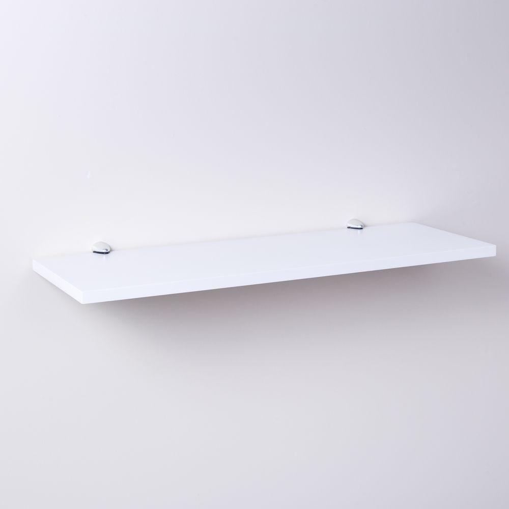 Prateleira Branca 40 X 20cm Com Suporte Tucano