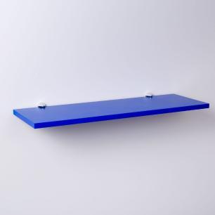 Prateleira Azul 60 X 20cm Com Suporte Tucano
