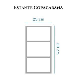Estante Copacabana 80 x 25cm