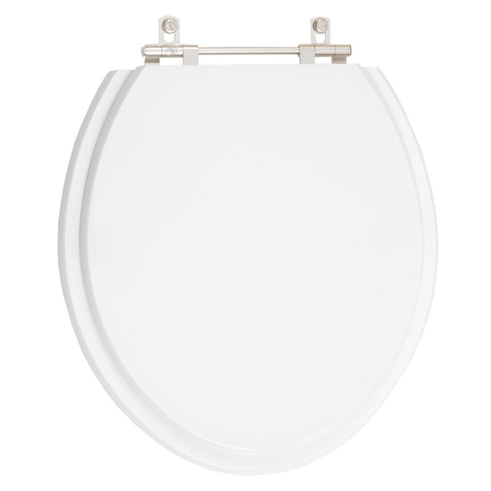 Tampa de Vaso Poliester Convencional Oval Universal 1.6gpf 6lpf Branco para bacia Deca
