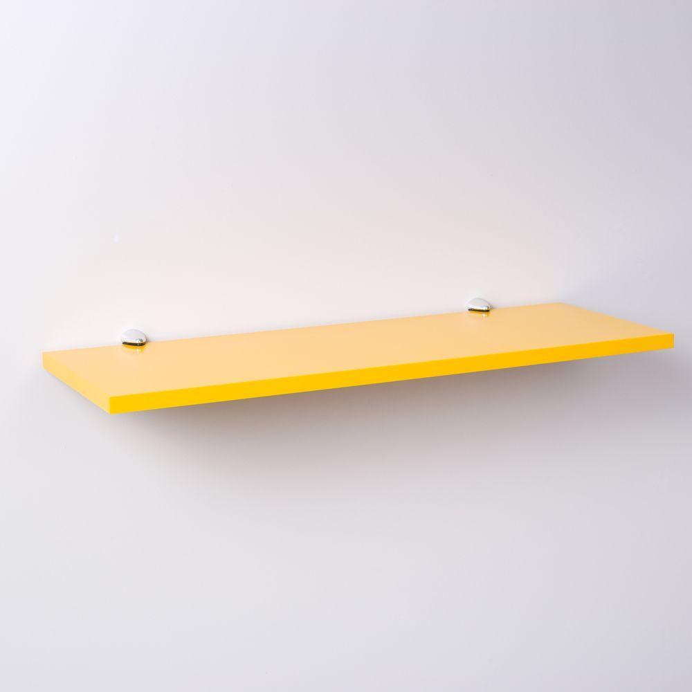 Prateleira Amarela 60 X 25cm Com Suporte Tucano