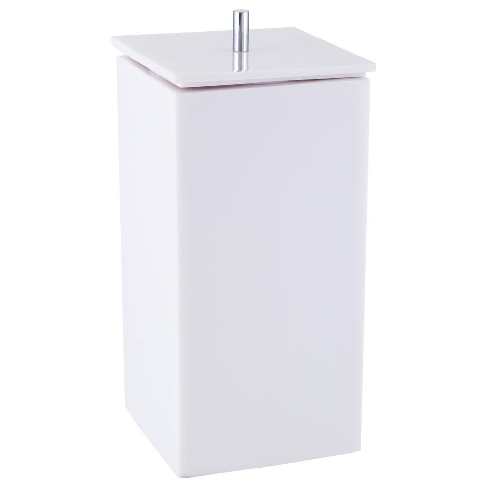 Porta Escova e Creme Dental para Banheiro - Quadrado - Branco