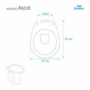 Assento Sanitario Ascot Premium Ebony (Preto) para vaso Ideal Standard