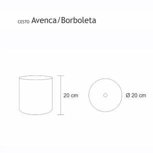 Lixeira Decorada Borboleta Bege Claro 6,2 Litros