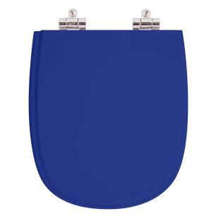 Assento Sanitario Poliester com Amortecedor Sabatini Azul para Vaso Icasa