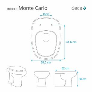 Tampa de vaso Almofadado Monte Carlo Cinza para bacia Deca