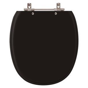 Assento Sanitario Poliester Ascot Premium Ebony para vaso Ideal Standard