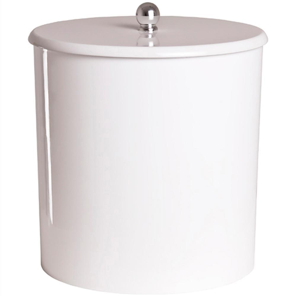 Lixeira para Banheiro Branca 6,2l  (20cm x 20xm)