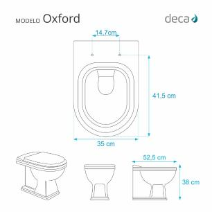 Assento Sanitario Almofadado Oxford Branco para Vaso Deca