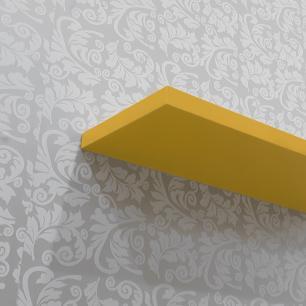 Kit Com 2 Prateleiras Amarelas 40x20cm com Suporte Invisível