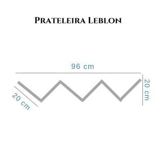 Prateleira Leblon Porta Livros 20 x 96 cm Branco