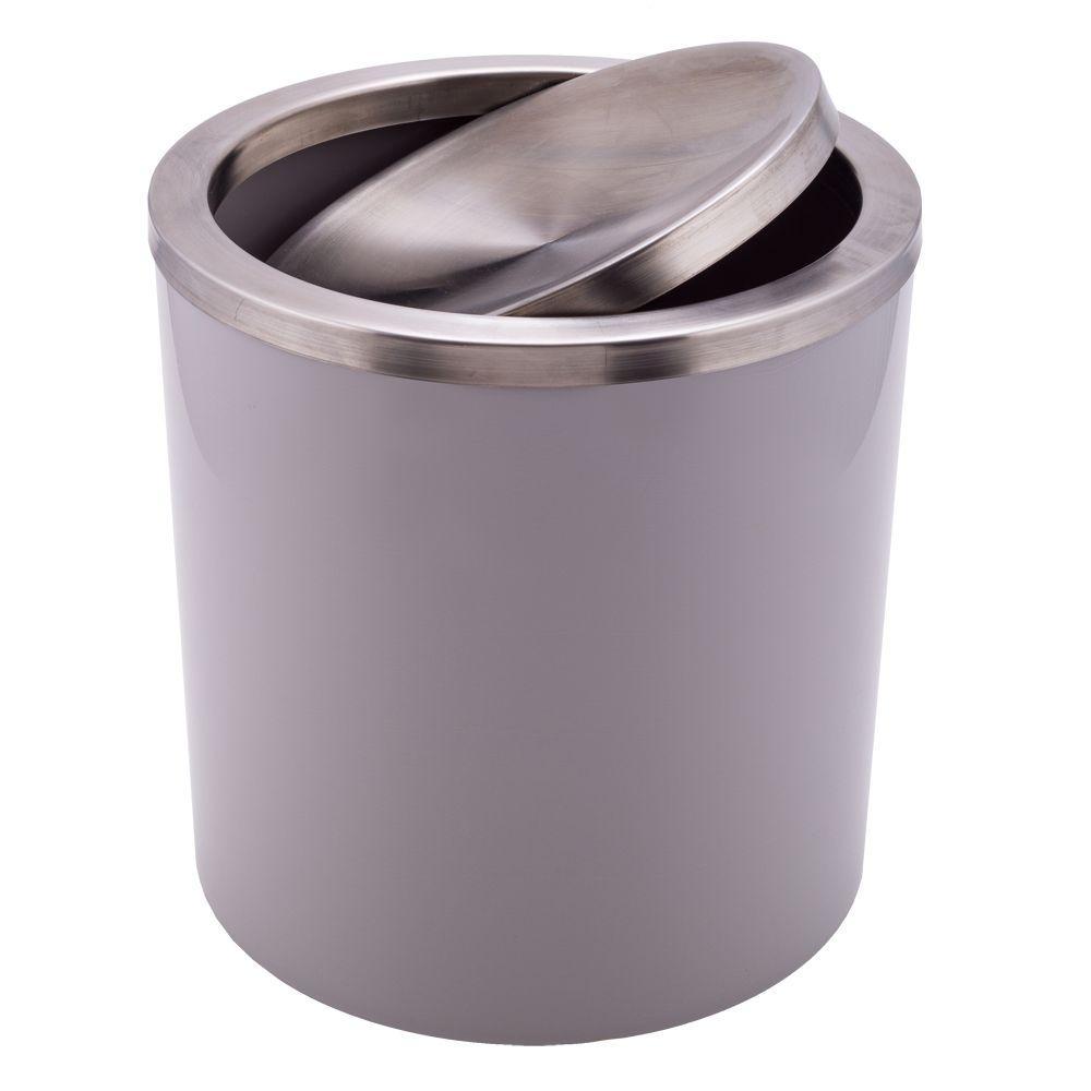 Lixeira Basculante Cinza Claro 6,2l