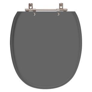 Assento Sanitario Poliester Ascot Cinza Quartzo para vaso Ideal Standard