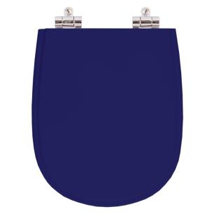 Assento Sanitario Poliester com Amortecedor Paris Azul Cobalto para Vaso Ideal Standard