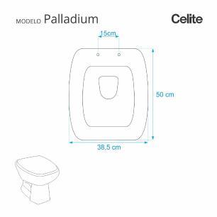 Assento Sanitario Palladium Preto para vaso Celite