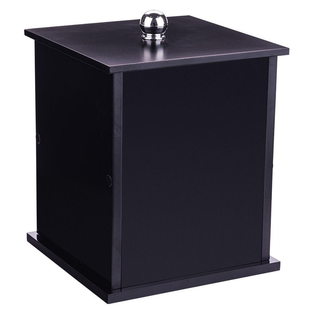 Lixeira Quadrada Preta Para Banheiro 26cm Capacidade 6,2l