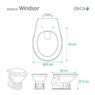 Assento Sanitario com Amortecedor Windsor Branco para Vaso Deca