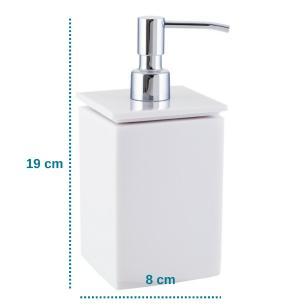 Conjunto de Potes para Banheiro - Quadrado - Branco