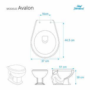 Assento Sanitario Poliester com Amortecedor Avalon Branco para Vaso Ideal Standard