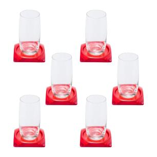 Porta Copos Vermelho - 6 unidades
