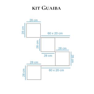 Kit Com 4 Nichos E 2 Prateleiras - Linha Mdf