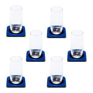 Porta Copos Azul e Preto - 6 unidades