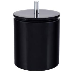 Conjunto de Potes para Banheiro - Redondo - Preto
