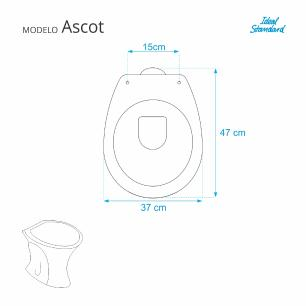 Assento Sanitario Ascot Bone para vaso Ideal Standard