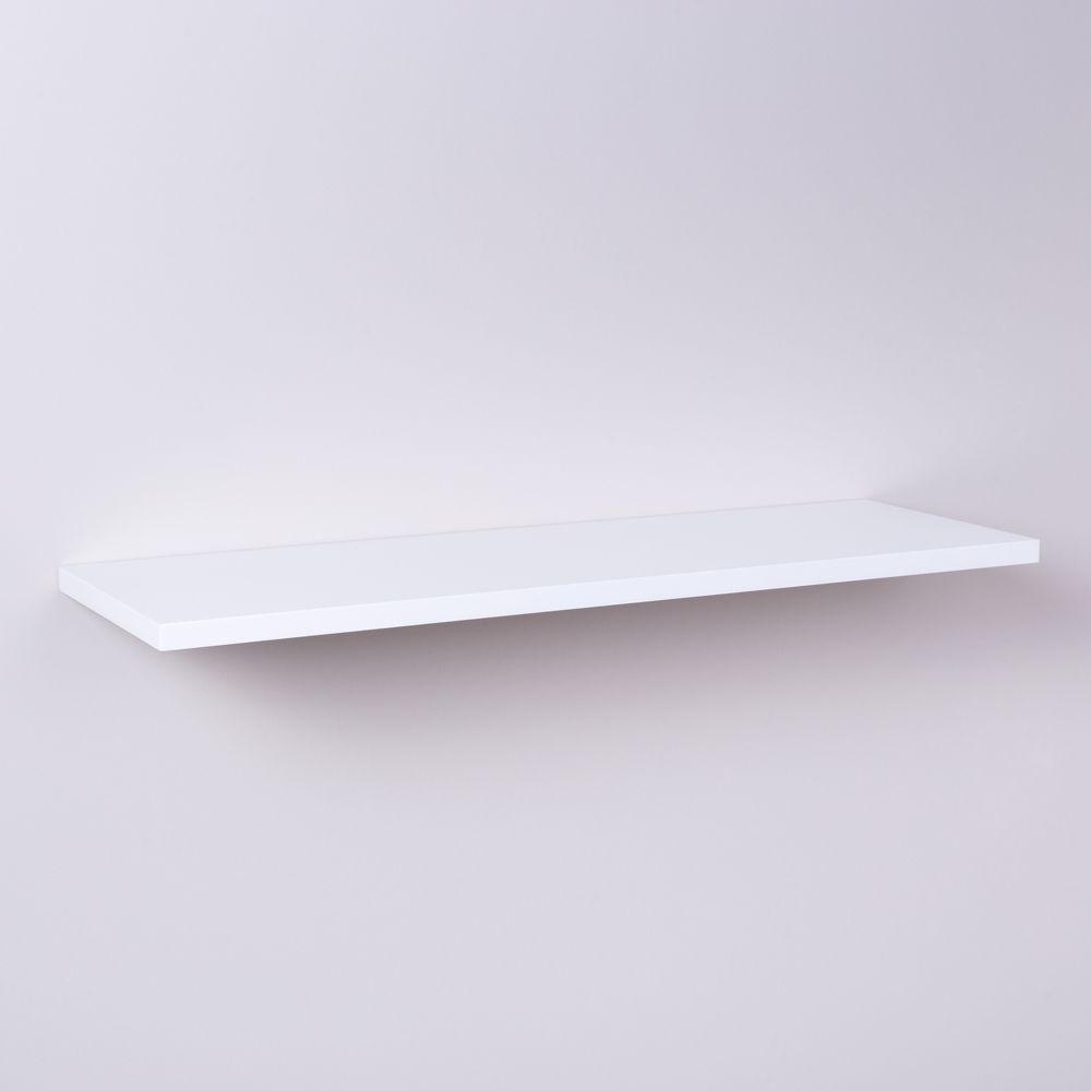 Prateleira Branca 100 X 20cm Com Suporte Invisivel