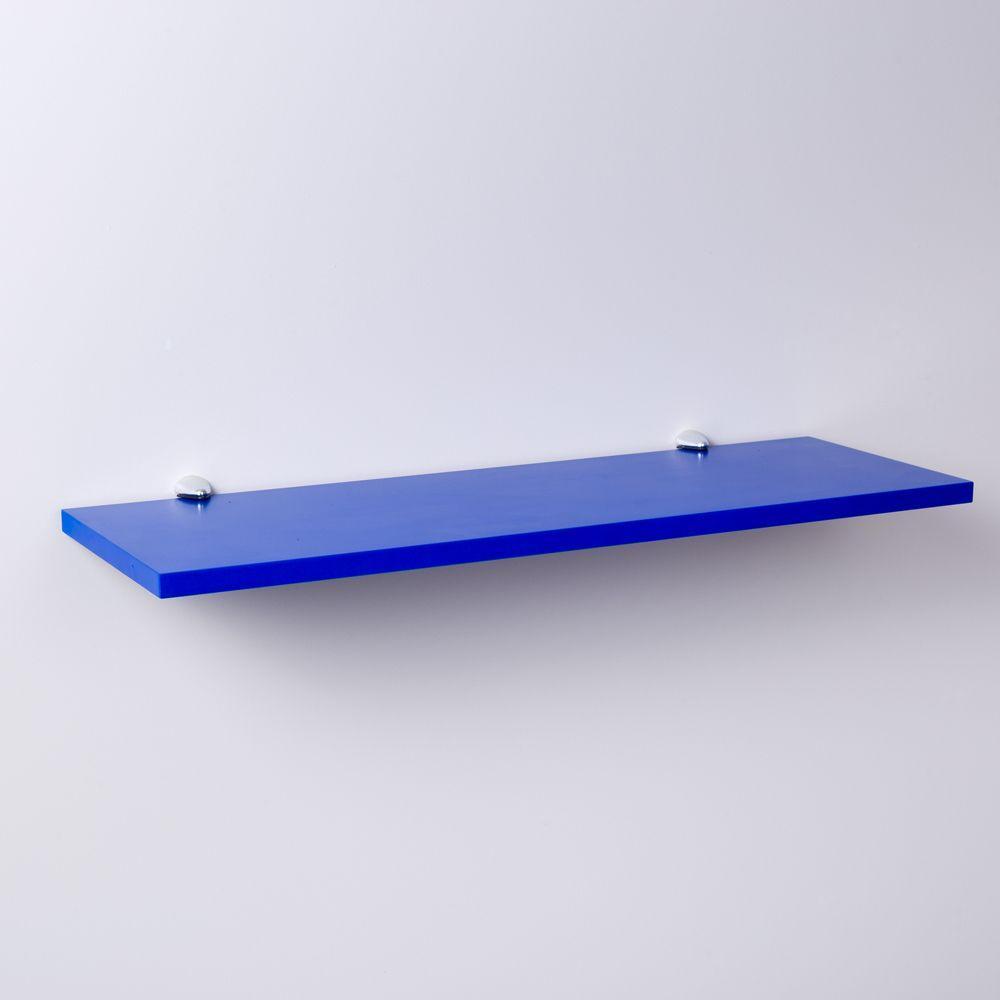 Prateleira Azul 40 X 25cm Com Suporte Tucano