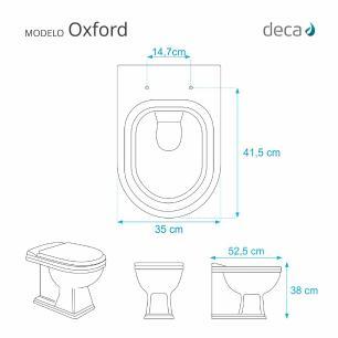 Assento Sanitario com Amortecedor Oxford Rosa para Vaso Deca