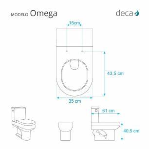 Assento Sanitario Almofadado Omega Cinza Real para Vaso Deca