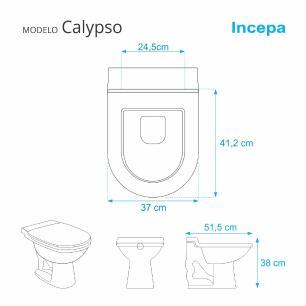 Tampa de Vaso Almofadada Calypso Cinza Claro para bacia Incepa