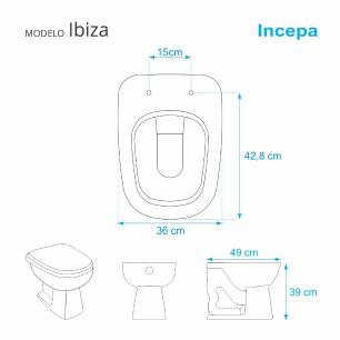 Assento Sanitario Almofadado Ibiza Bege Claro (Biscuit) para Vaso Incepa