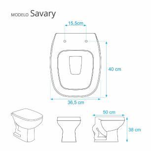 Assento Sanitário Poliester Soft Close Savary Branco para vaso Eternit