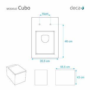Assento Sanitario com Amortecedor Cubo Branco para Vaso Deca