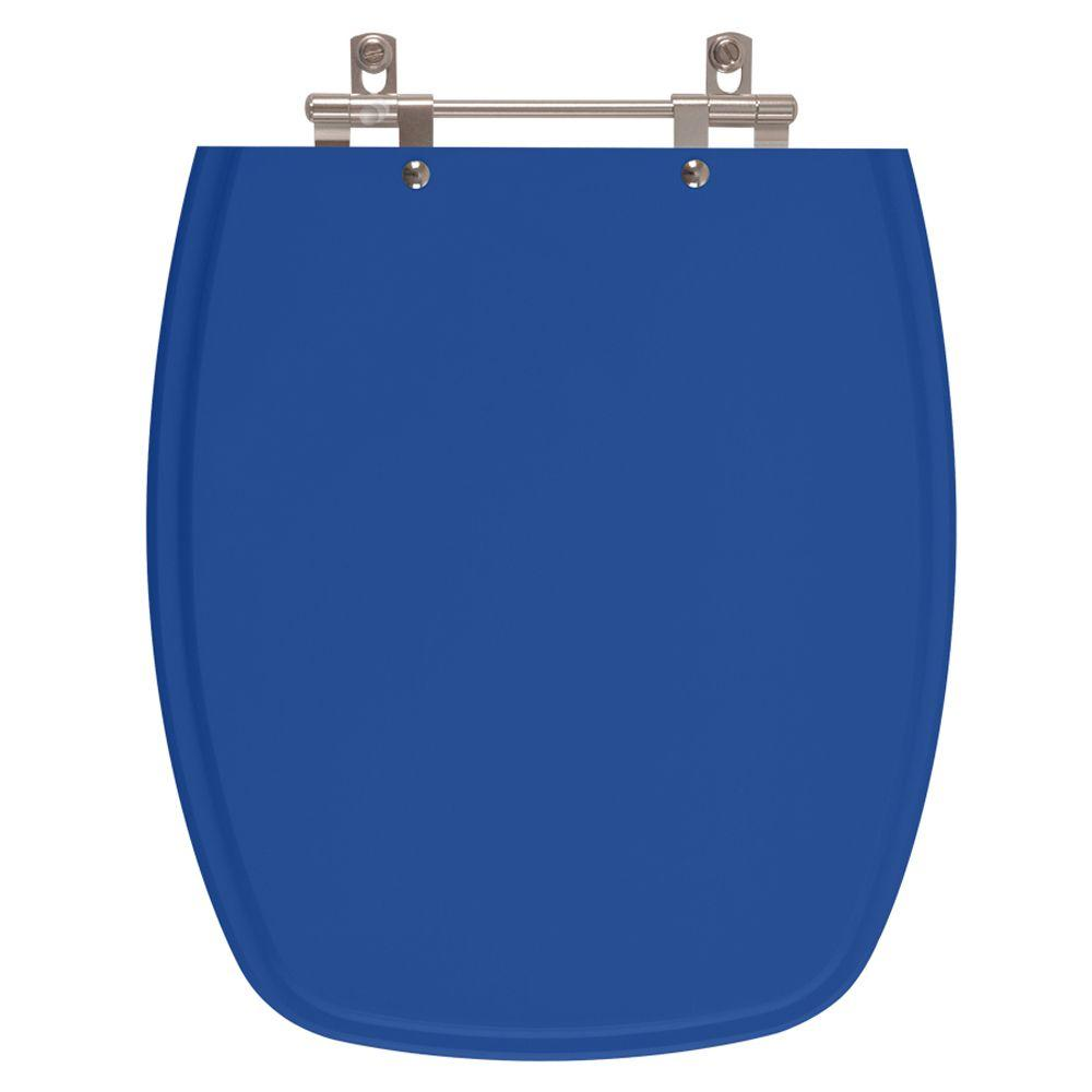 Assento Sanitario Poliester Stylus Azul Mineral para vaso Celite