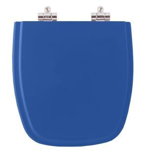 Assento Sanitario Poliester com Amortecedor Fit Azul Real para Vaso Celite