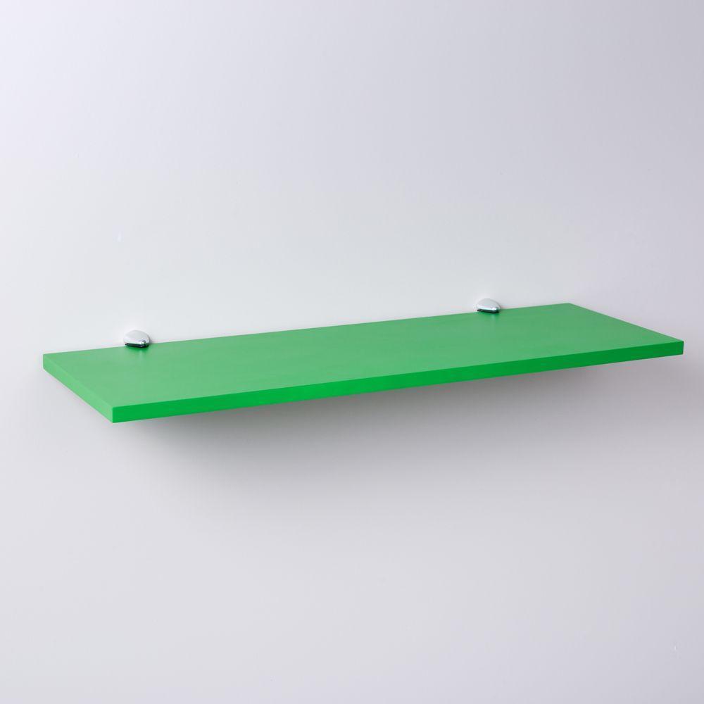 Prateleira Verde 60 X 25cm Com Suporte Tucano