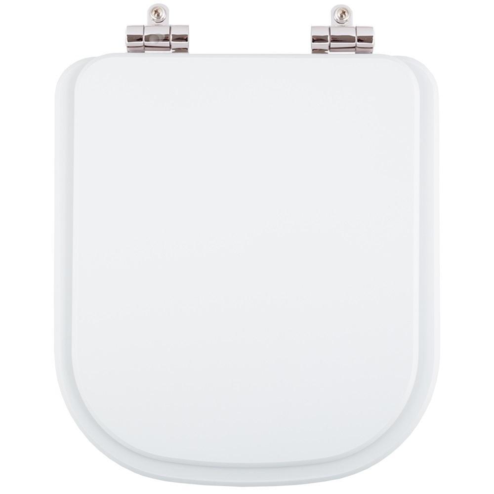 Assento Sanitário Poliester Soft Close Misti Branco para vaso Icasa